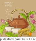 turmeric tea illustration 34321132