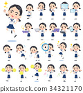 Sailor suit Thick eyebrows girl_2 34321170