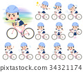 Sailor suit Thick eyebrows girl_rode bicycle 34321174