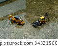 Forklifts under construction for urban reconstruct 34321500