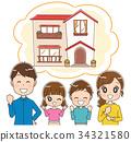 家庭 家族 家人 34321580