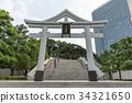 shrine, sanno torii, sanno hie-jinja shrine 34321650