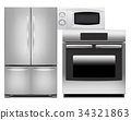 Refrigerator, oven and microwave oven 34321863