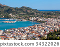 Aerial view of Zakynthos in Greece 34322026