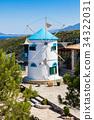 Old Windmill in Agios Nikolaos in Zakynthos 34322031