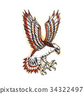Osprey Sea Hawk Swooping Tattoo 34322497