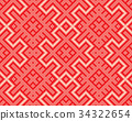 Seamless Red Knitting Background 34322654