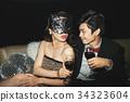 Flirting couple 34323604