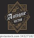 frame, vector, retro 34327182