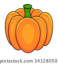 pumpkin  vector symbol icon design. 34328050