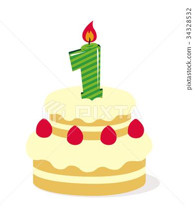 Fantastic Birthday Cake Illustration 1 Year Old Stock Illustration Personalised Birthday Cards Paralily Jamesorg