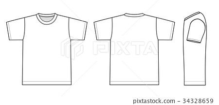 短袖T恤图案插图(侧面) 34328659