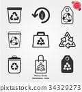 Recycle icons 34329273