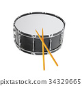 Drum isolated 34329665