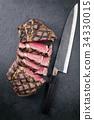 Barbecue dry aged Kobe Rib Eye Steak  34330015