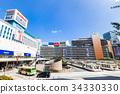 도쿄 신주쿠 역 서쪽 출구 34330330