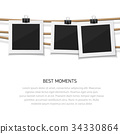 Enjoy every moment. Set of vector photo hanged on 34330864