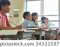 초등학교 수업 교실 34331597