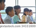 초등학교 수업 교실 34331600