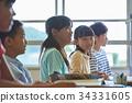 초등학교 수업 교실 34331605