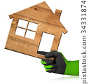 Wooden House - Construction Industry Concept 34331874