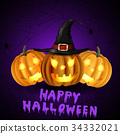 Scary Jack O Lantern halloween pumpkins 34332021