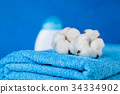 Soft blue towels 34334902