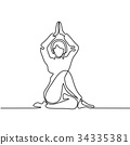 person, yoga, woman 34335381