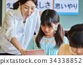 초등학교 수업 교실 34338852