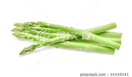 Asparagus on white background 34339341