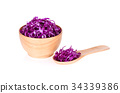 red cabbage isolated on white background 34339386