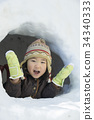 Kamakura Snow play child 34340333