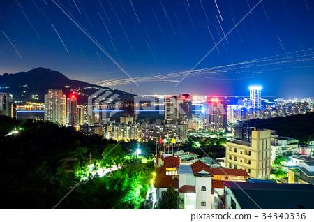 台北河邊夜景 34340336