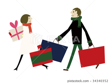 Year-end Christmas shopping 34340352