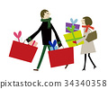 Year-end Christmas shopping 34340358