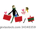 Year-end Christmas shopping 34340359