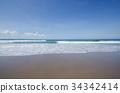 리조트, 해변, 파도 34342414