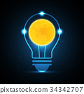 technology future moon light bulb 34342707