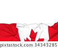 Flag of Canada on white background  34343285