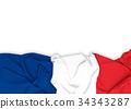 France flag on white background  34343287