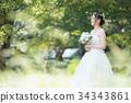 웨딩 드레스 여성 신부 34343861