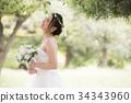 웨딩 드레스 여성 신부 신부 34343960