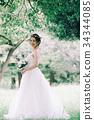 웨딩 드레스 여성 전신 34344085