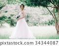 웨딩 드레스 여성 전신 34344087