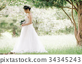 웨딩 드레스 여성 전신 34345243