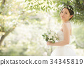 웨딩 드레스 여성 신부 결혼 34345819