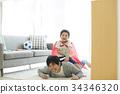 父母和小孩 親子 爸爸 34346320