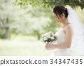 新娘 婚礼 婚纱 34347435