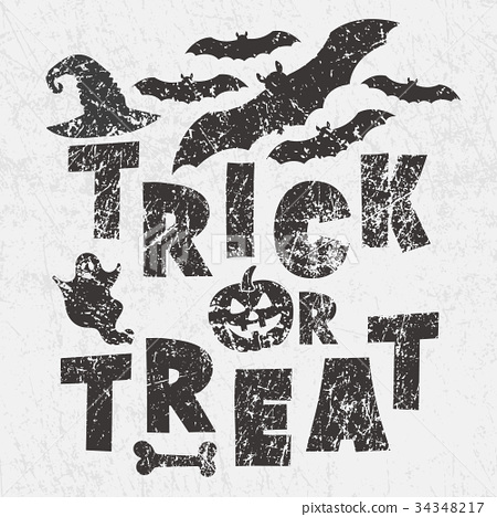 Trick or treat - traditional Halloween motto  34348217