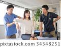 操縱的患者機械手按摩醫療圖像 34348251
